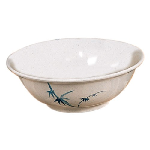 Thunder Group 5095BB Blue Bamboo Melamine Rimless Bowl 96 oz.