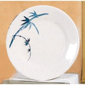 Blue Bamboo Melamine Round Plate - 10-3/8