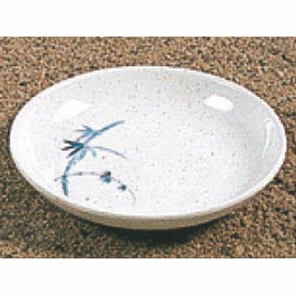 Thunder Group 102.8BB Blue Bamboo Melamine Sauce Dish 2 oz.