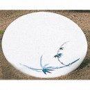 Thunder Group 1360BB Blue Bamboo Round Melamine Saucer 5-7/8""