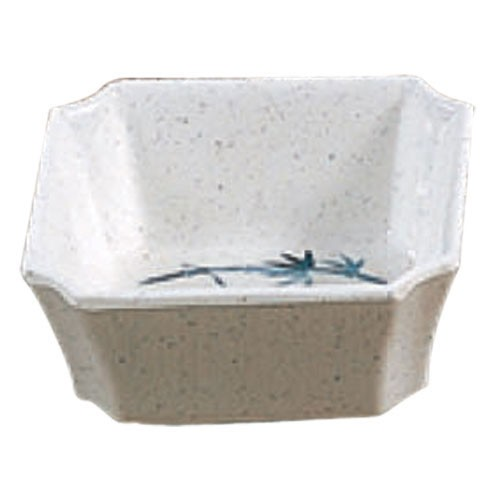 Thunder Group 1002BB Blue Bamboo Square Melamine 4 oz. Side Dish 3-1/8""