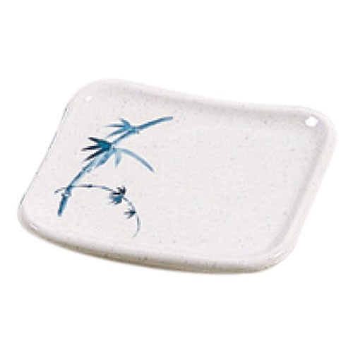 Thunder Group 0010BB Blue Bamboo Square Melamine Plate 6-1/2""