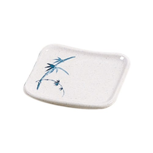 Blue Bamboo Square Melamine Plate - 4-3/4