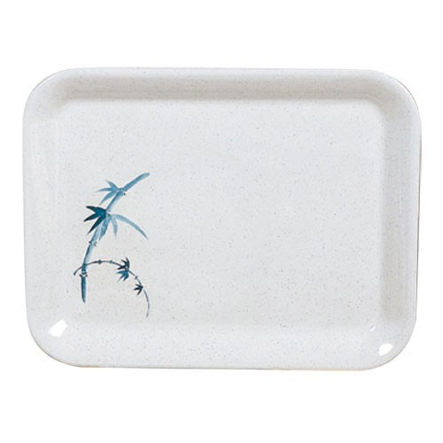 "Thunder Group 0903BB Blue Bamboo Square Melamine Tray 17"" x 12-5/8"""