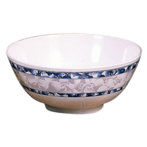 "Thunder Group 5206DL Blue Dragon Melamine Rice Bowl 25 oz., 5-7/8"""