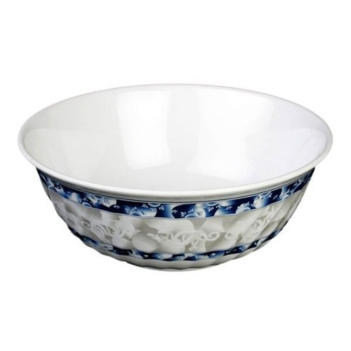 Blue Dragon Melamine 27 Oz. Fluted Bowl - 6-7/8