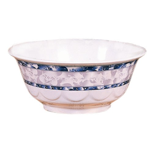 Blue Dragon Melamine 47 Oz. Scallop Edge Bowl - 8-1/4