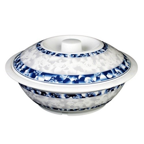 Thunder Group 8010DL Blue Dragon Melamine Serving Bowl with Lid 75 oz.