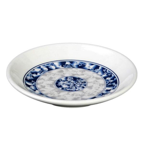"""Thunder Group 1004dl Blue Dragon Melamine Round Plate 4-1/2"""""""