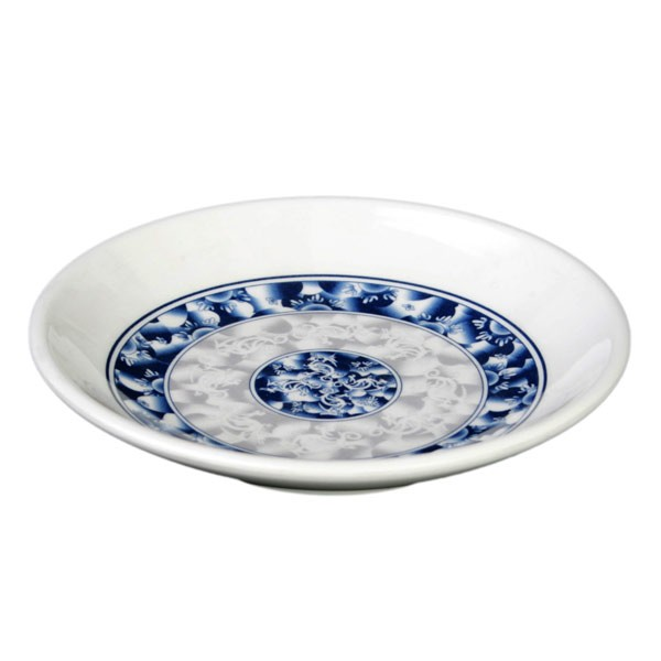 Blue Dragon Melamine Round Plate - 4-1/2