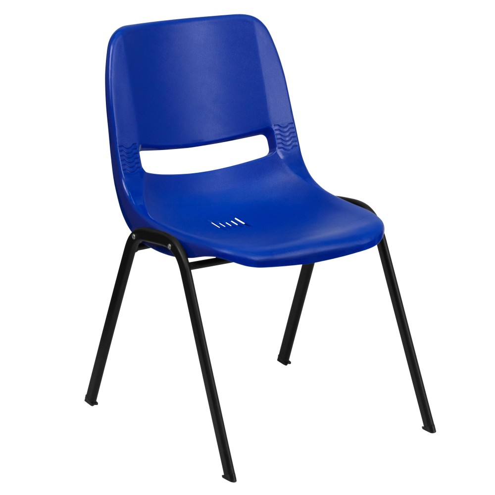 Blue Ergonomic Shell Stack Chair