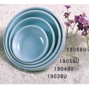 Thunder Group 1905 Blue Jade Melamine Round Flat Bowl 8 oz.