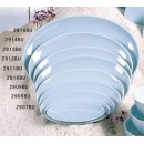 "Thunder Group 2911 Blue Jade Melamine Oval Plate 11-1/4"" x 8-3/8"""