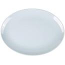 Blue Jade Melamine Oval Plate - 16