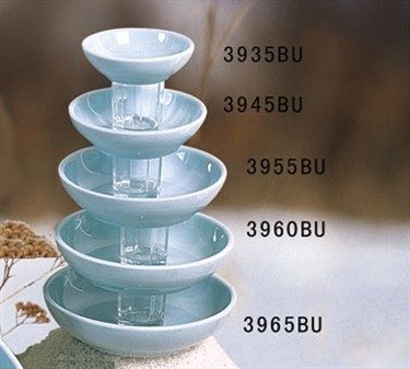 Thunder Group 3935 Blue Jade Melamine Sauce Dish 3 oz.