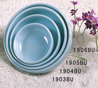 Thunder Group 1904 Blue Jade Melamine Round Flat Bowl 6 oz.