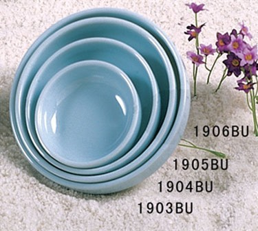 Thunder Group 1906 Blue Jade Melamine Round Flat Bowl 14 oz.
