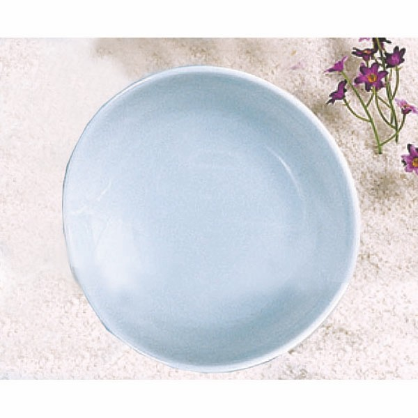 Thunder Group 1914 Blue Jade Round Melamine Platter, 13-3/4""