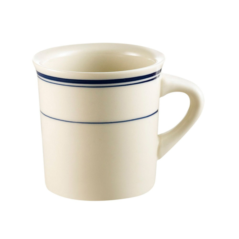 CAC China BLU-38 Blue Line Mug, 8 oz.