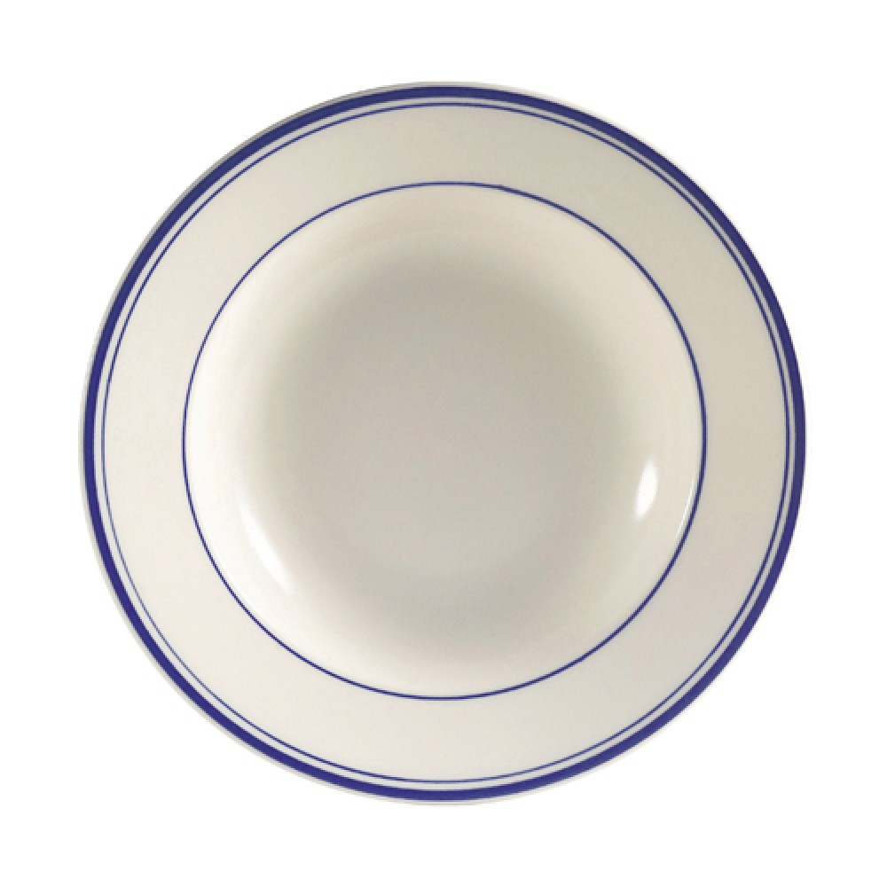 CAC China BLU-125 Blue Line Pasta Bowl 30 oz.
