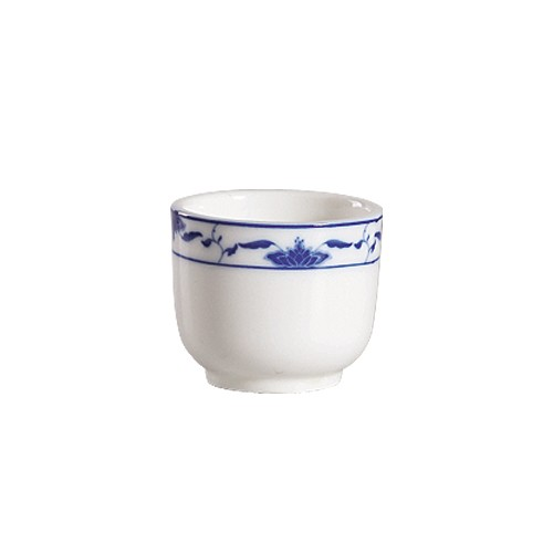 CAC China 103-54 Blue Lotus Chinese Tea Cup 4.5 oz.