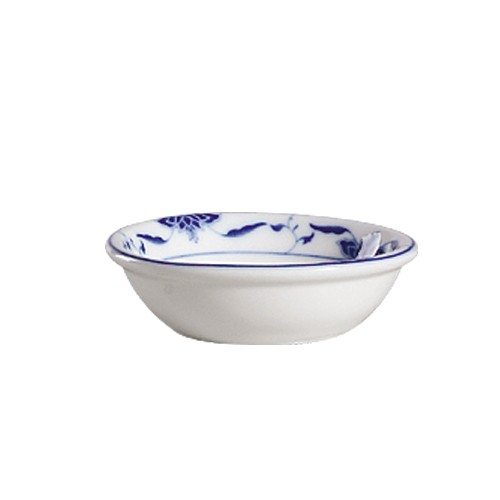 "CAC China 103-44 Blue Lotus 3-3/4"" Sauce Dish 3 oz."
