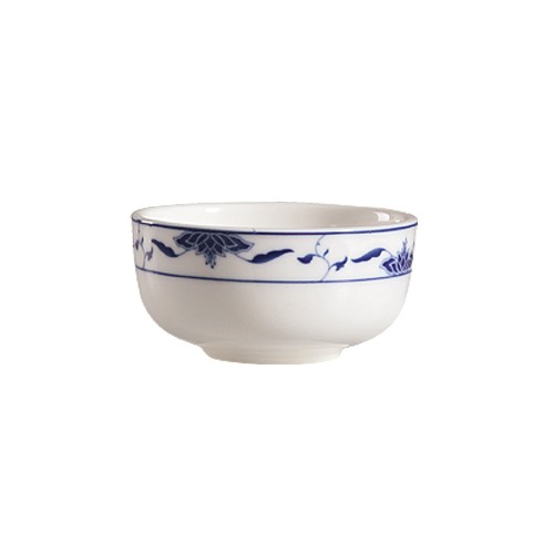 "CAC China 103-95 Blue Lotus 4.5"" Jung Bowl 9 oz."
