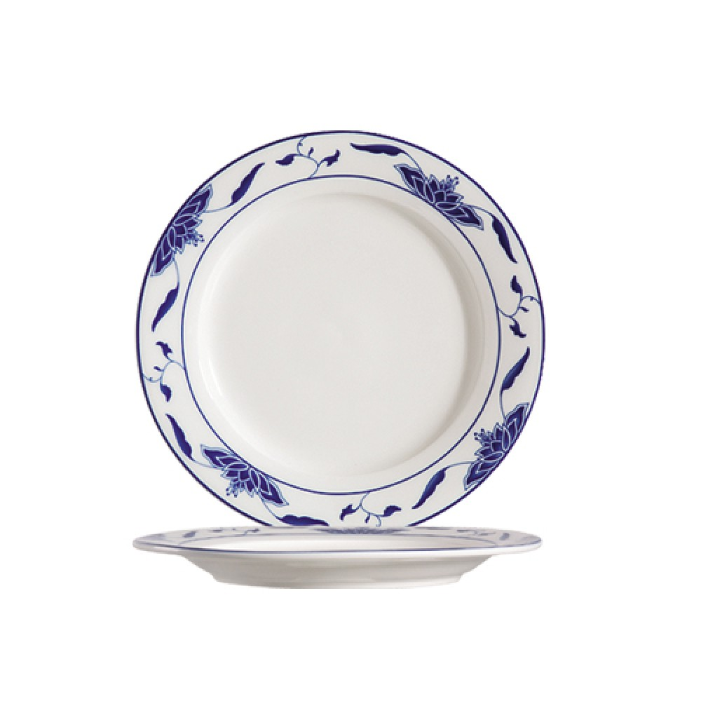 CAC China 103-16 Blue Lotus Plate 10-1/4""