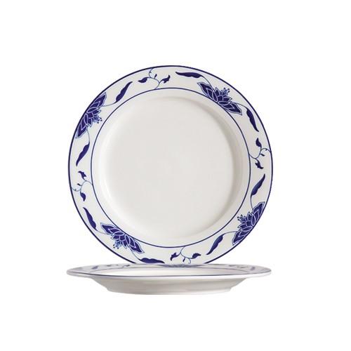 "CAC China 103-16 Blue Lotus Plate 10-1/4"""