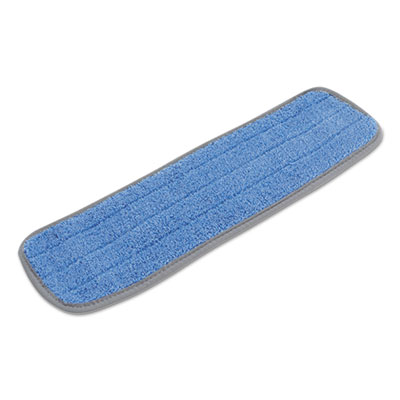 Blue Microfiber Mop Head with Velcro Backing 18