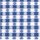 "Winco TBCO-90B Blue Checkered Oblong Vinyl Table Cloth 52"" x 90"""