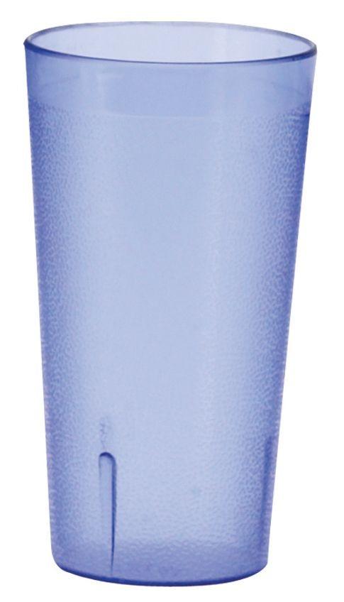 Winco PTP-05B Pebbled 5 oz. Blue Plastic Tumbler