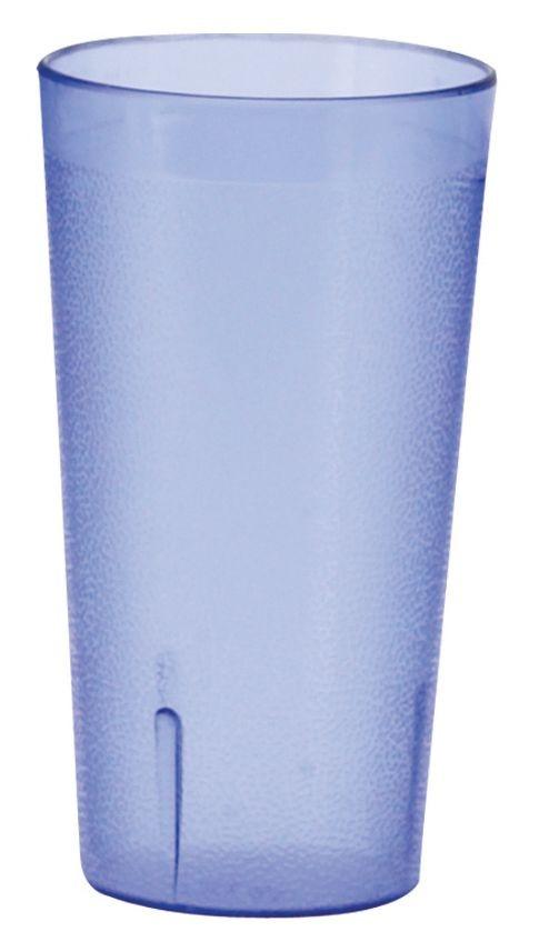 Winco PTP-08B Blue Pebbled Plastic Tumbler, 8 oz.