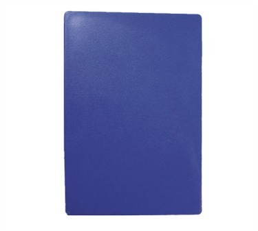 "TableCraft CB1520BLA Blue Polyethylene Cutting Board 15"" x 20"" x 1/2"""