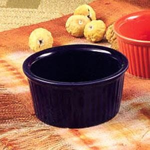 CAC China RKF-6-BLE Blue Fluted Ramekin 6 oz.