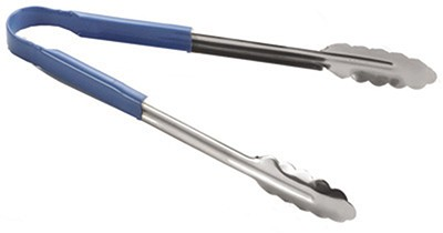 """TableCraft 3712BL Blue Vinyl-Coated Spring Steel Utility Tong 12"""""""