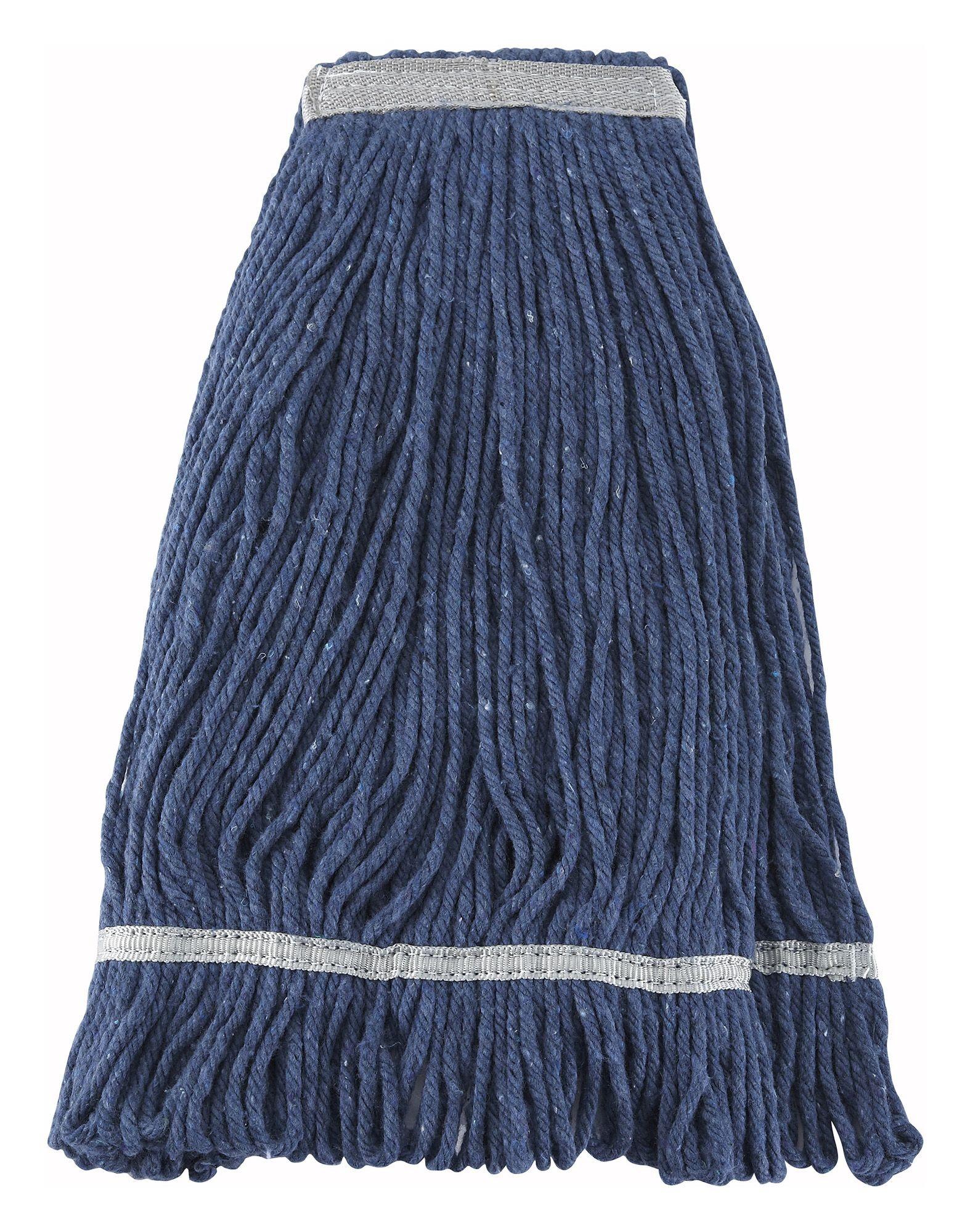 Winco MOP-24 Blue Yarn Looped-End Wet Mop Head 600g, 24 oz.