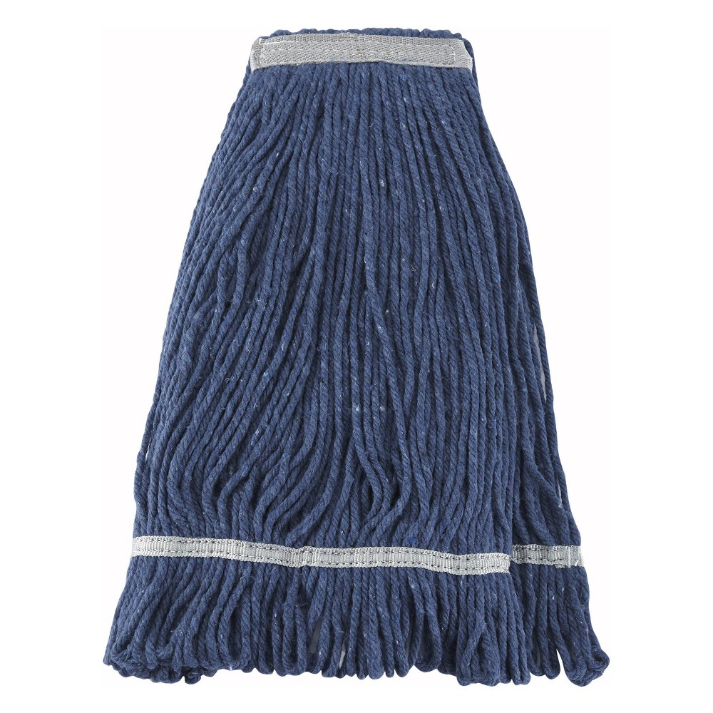 Winco MOP-24 Blue Yarn Looped-End Wet Mop Head 600g, 24 oz.