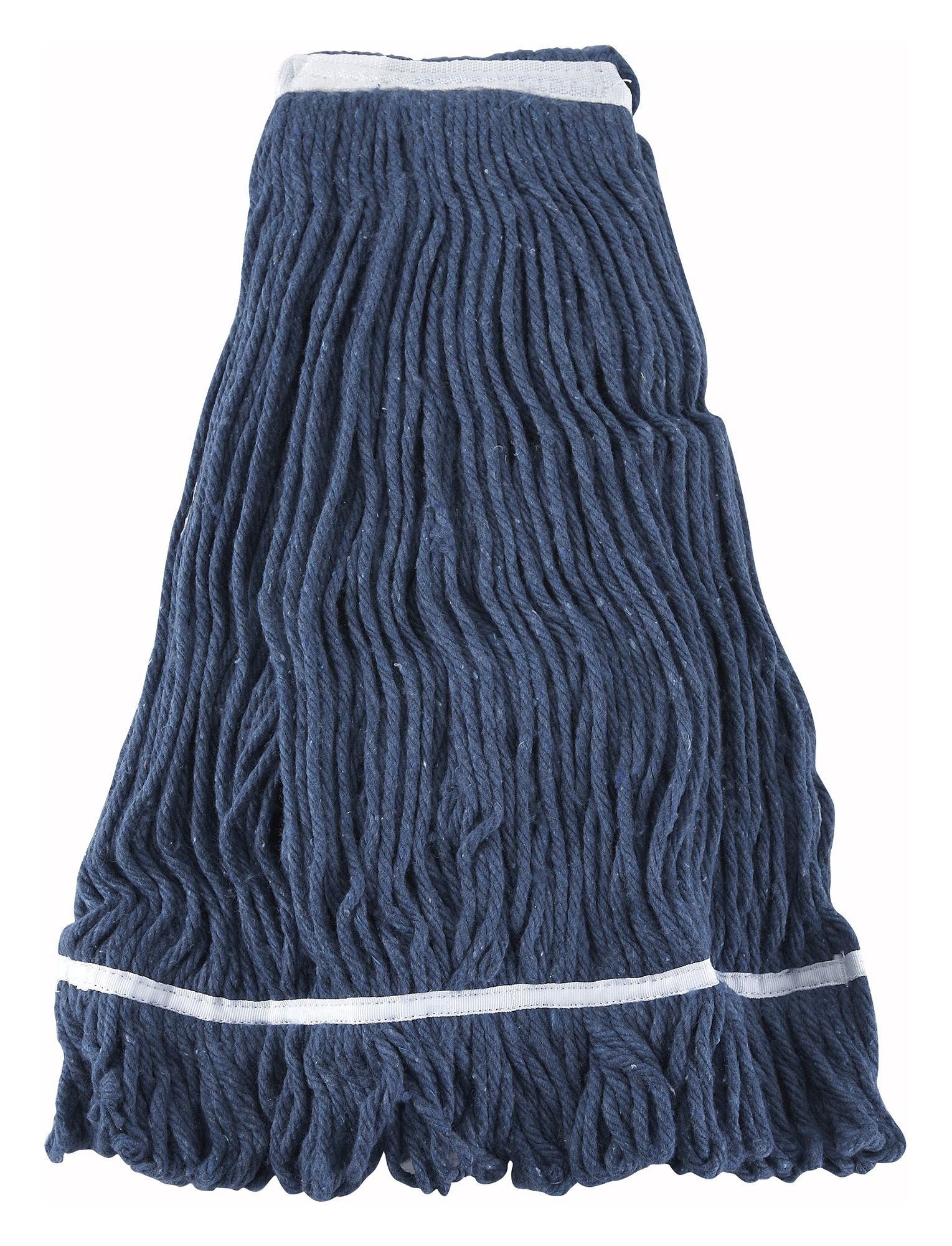 Winco MOP-32 Blue Yarn Looped-End Wet Mop Head 800g 32 oz.