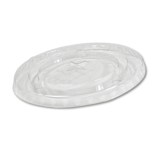 Boardwalk Cold Cup Straw-Slot Lids, Fits 20oz Cups, Clear (Box of 12)