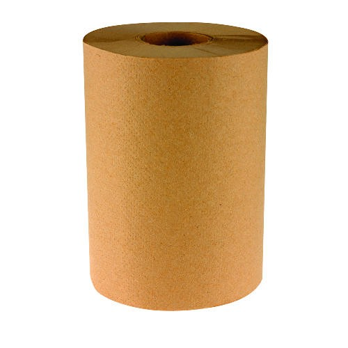 Boardwalk Paper Towel Hard Wound Roll Nonperforated Embossed Natural 8