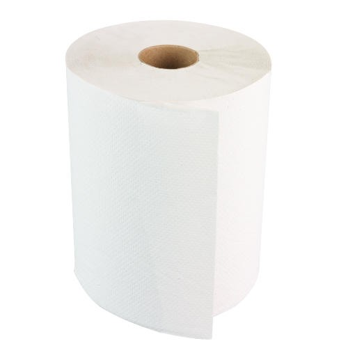 Boardwalk Paper Towel Hard Wound Roll Nonperforated Embossed White 8