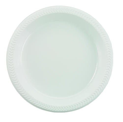 Boardwalk Plastic Plates, 6 Inches, White, Round, 125/Pack (Box of 1000)