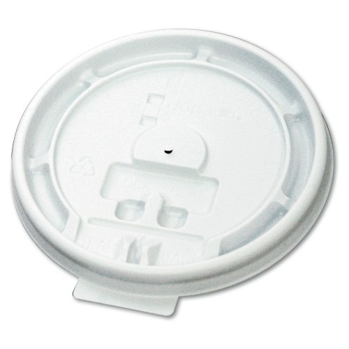 Boardwalk Plastic Tear Tab Lid for 10-20 Oz Cups -White (Box of 1000)