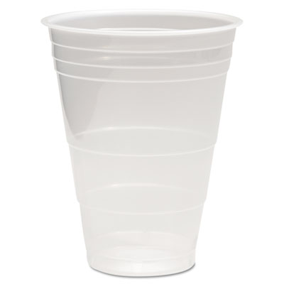 Boardwalk Translucent Plastic Cold Cups, 16 oz., 50/Pack