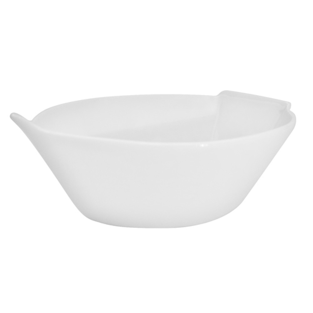 "CAC China RCN-BT8 Clinton Rolled Edge Boat Bowl 20 oz., 8 1/2"" x 6"" x 2 3/4"""