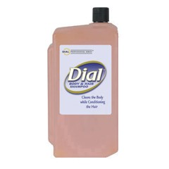 Body & Hair Shampoo, Peach Scent, Clear Amber, 1 Liter Cartridge