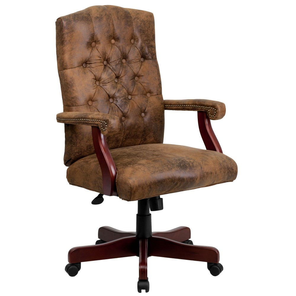 Flash Furniture 802-BRN-GG Bomber Brown Classic Executive Chair