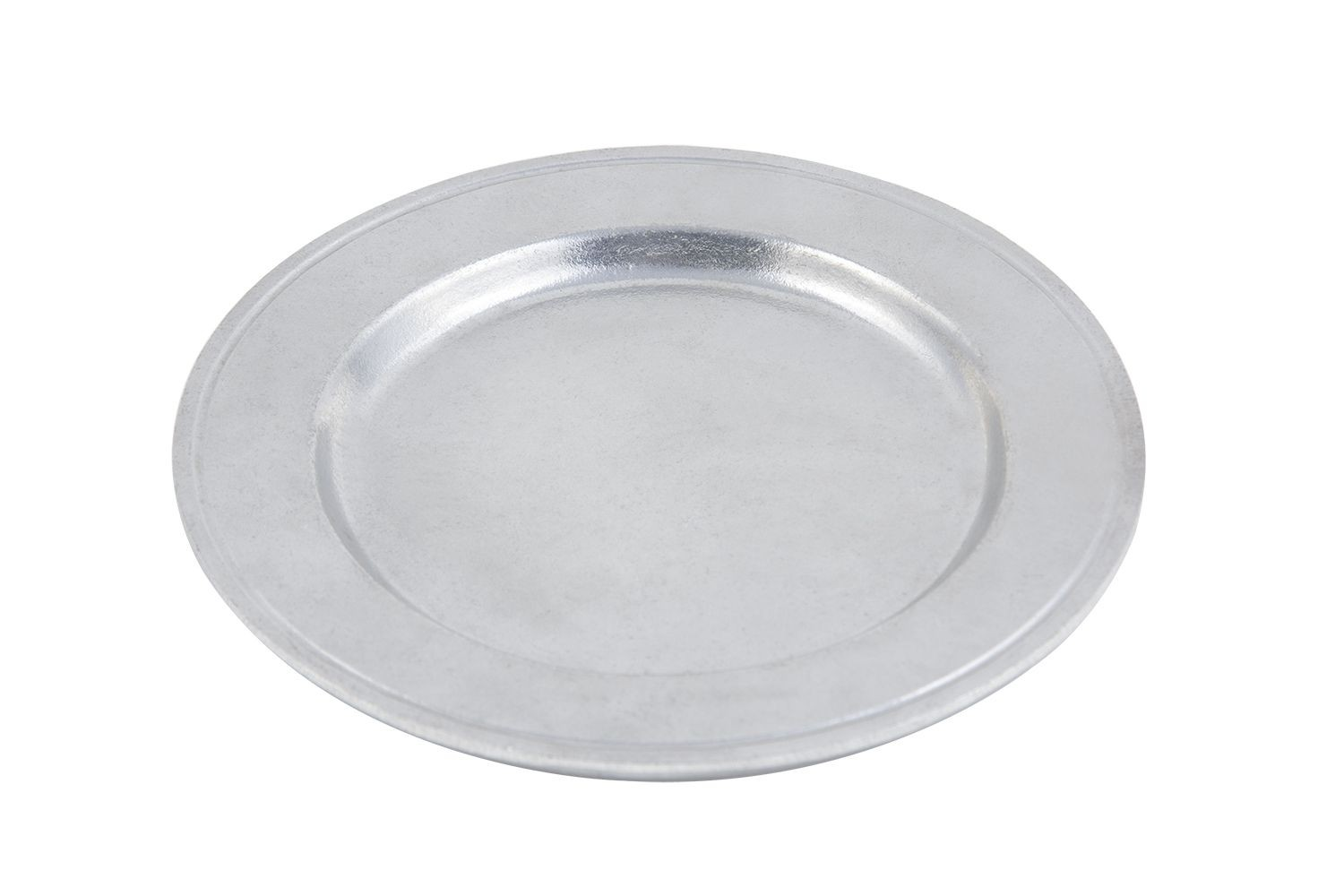 """Bon Chef 1021P Rimmed Salad Plate, Pewter Glo 7 1/2"""" Dia., Set of 6"""