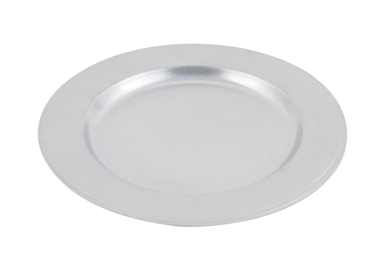 "Bon Chef 1022P Rimmed Dinner Plate, Pewter Glo 11"" Dia., Set of 4"
